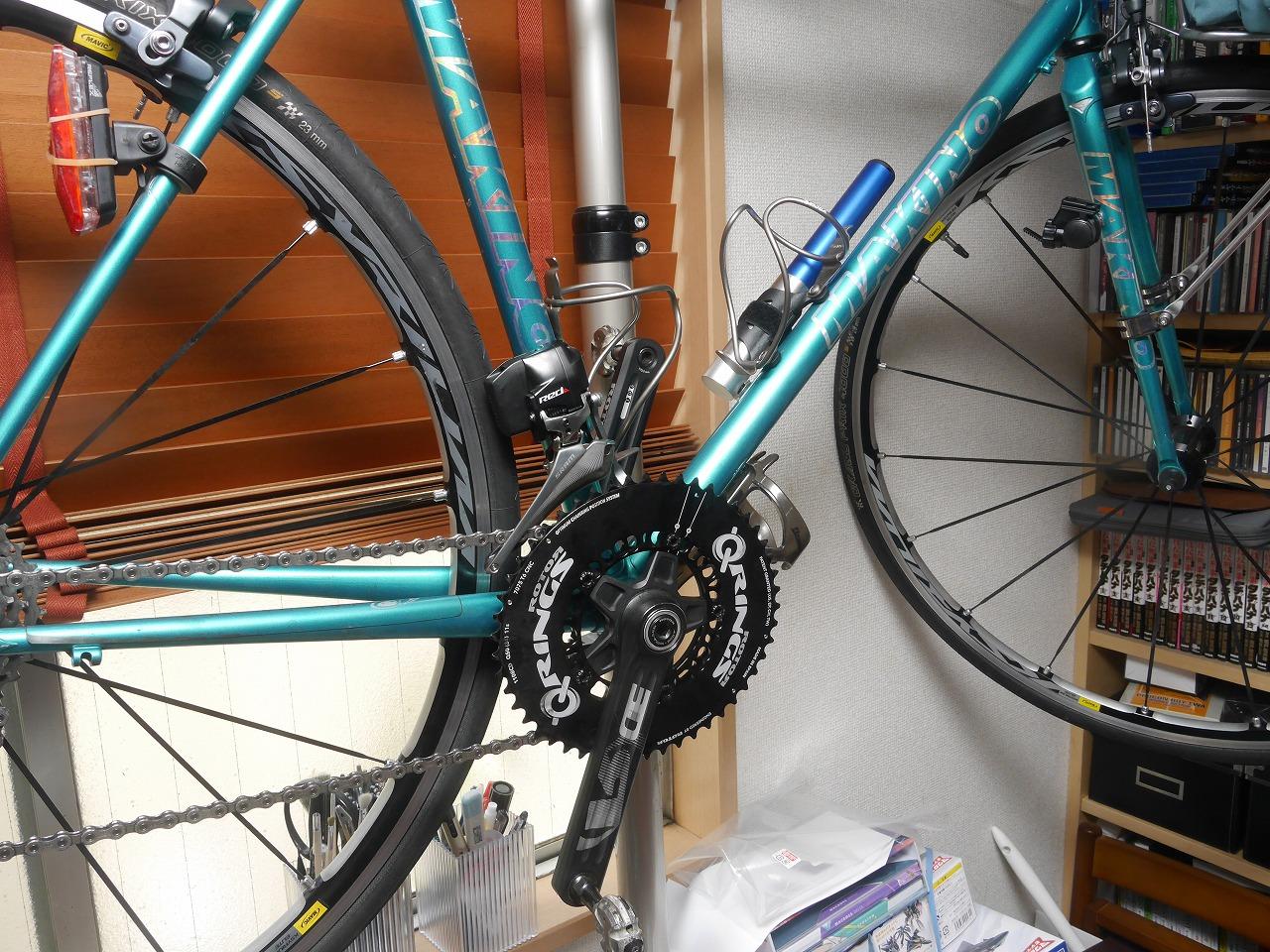 ROTORの30mm軸のクランクをBSA規格のバイクに取りつける